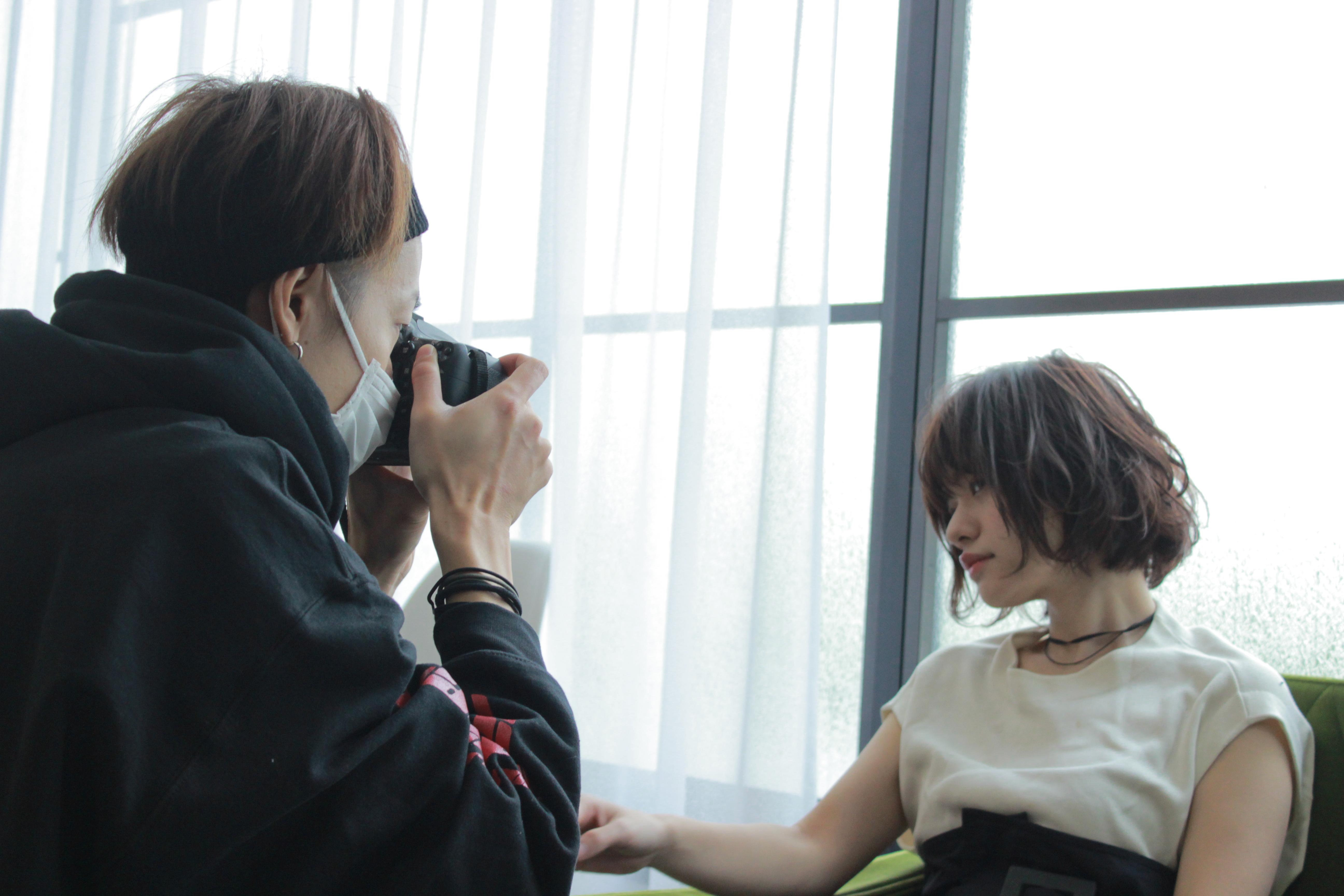 美容師のヘアスタイル撮影